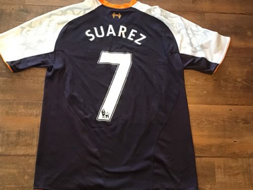 2012 2013 Liverpool Suarez Away Football Shirt Medium